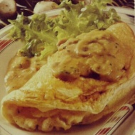 Souffle Omelette with Mushroom Sauce