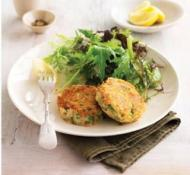 Salmon and Dill Potato Patties with Lime Mayonnaise