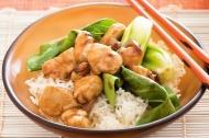 Honey Chicken with Pak Choy